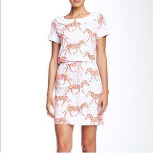 NEW Orla Kiely Mini Dress Collar Zebra Orange 2